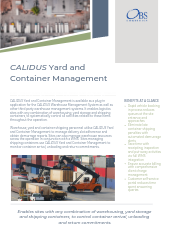 CALIDUS Yard and Container Management