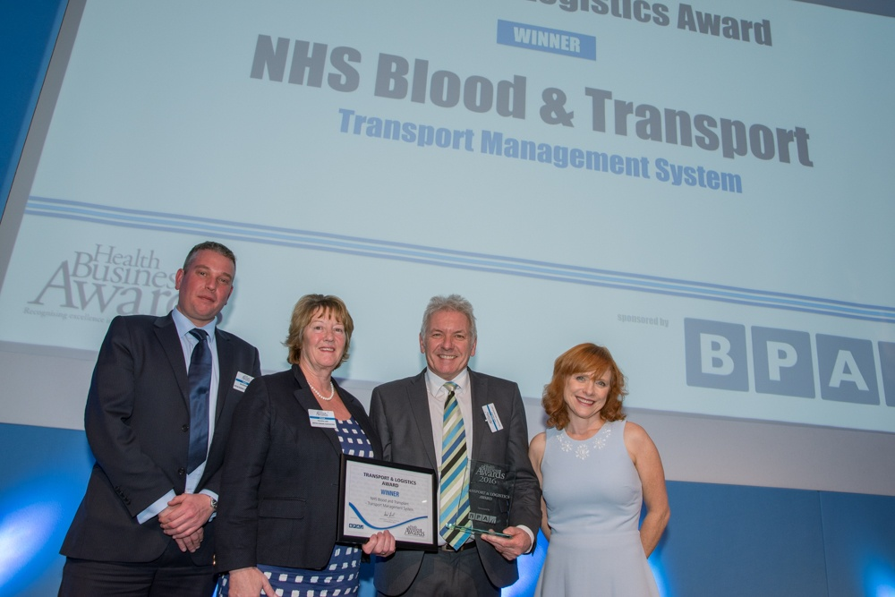 NHSBT win Transport and Logistics award with CALIDUS TMS