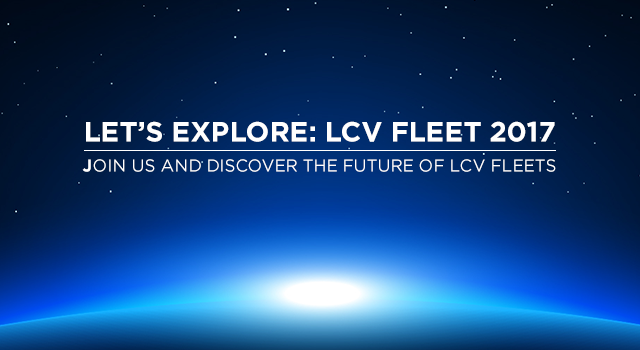 We are Exhibiting at: LET'S EXPLORE: LCV FLEET 2017