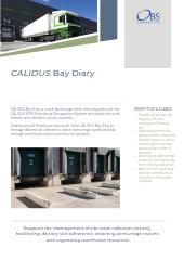CALIDUS Bay Diary