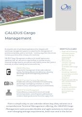 CALIDUS Cargo Management